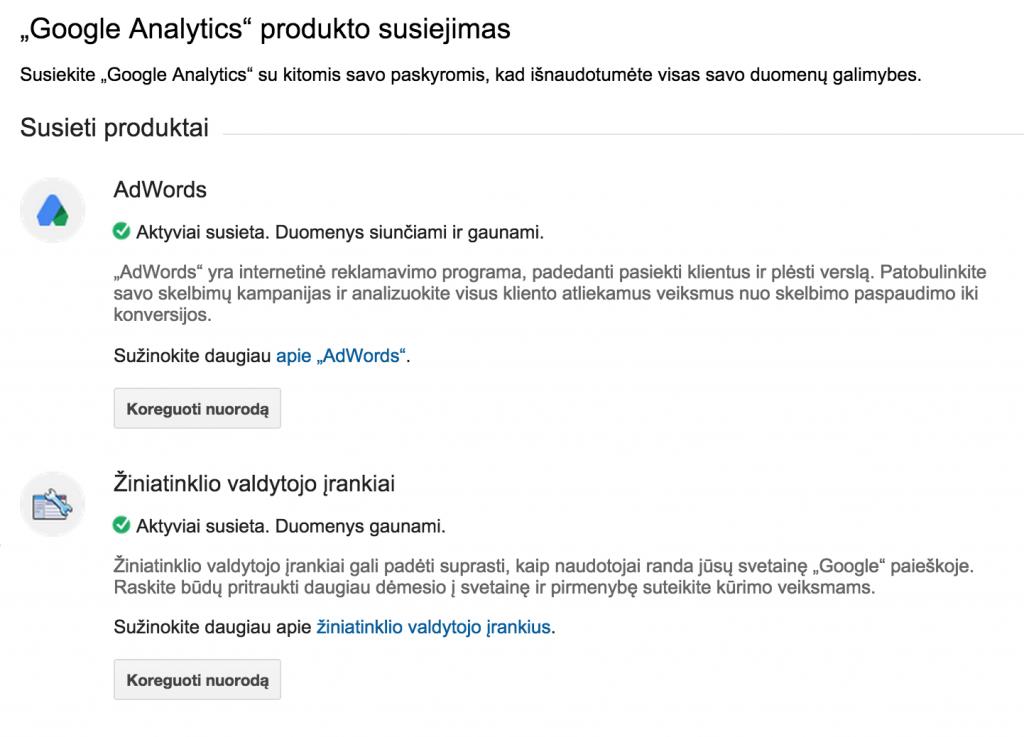 Google Produktu susiejimas